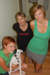 My dog, my sister, my mom, and me, 2007.